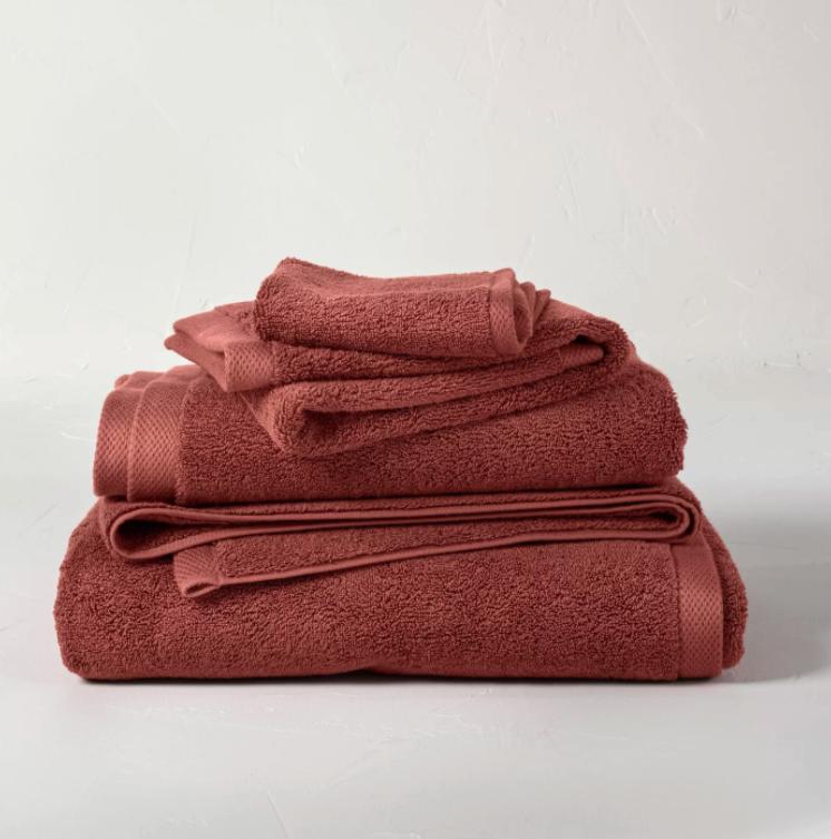 Terracotta/Clay bath towels via Target