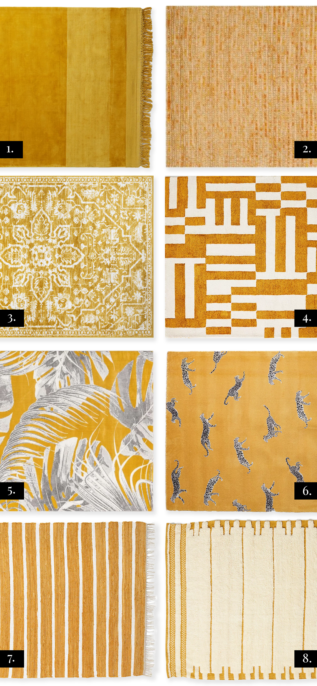 16 Modern Mustard Colored Area Rugs That Ooze Style - Pursuit Decor - feat. rugs from Target, Anthropologie, Home Depot, Wayfair and Amazon #mustard #yellow #arearugs #homedecor