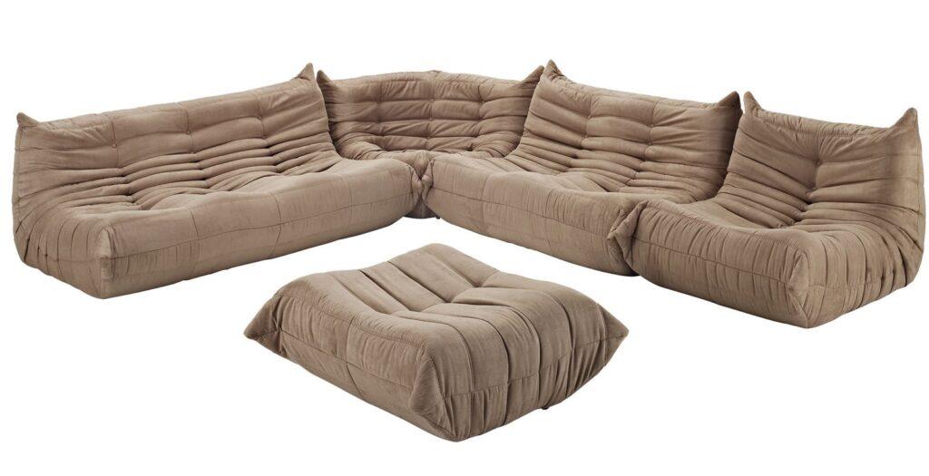 30+ Togo Replica Sofa Options and Togo Sofa Alternatives feat. the Waverunner Sofa Set by Modway via Walmart