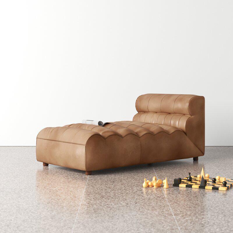 Anya Leather Chaise Sofa Bedvia All Modern