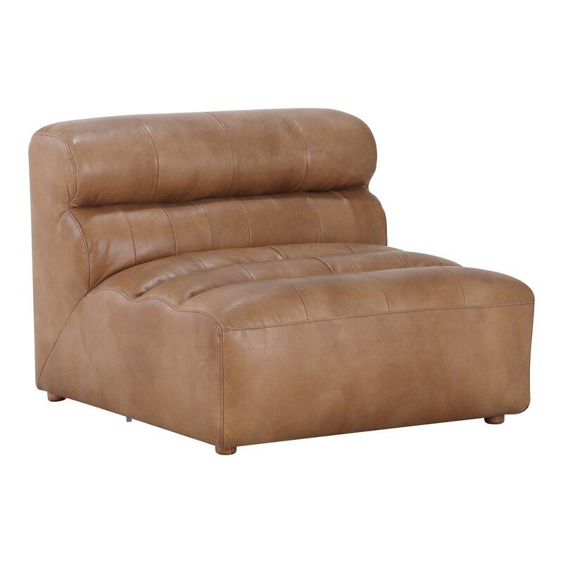 Anya Leather Sleeper Sofa Bedvia All Modern