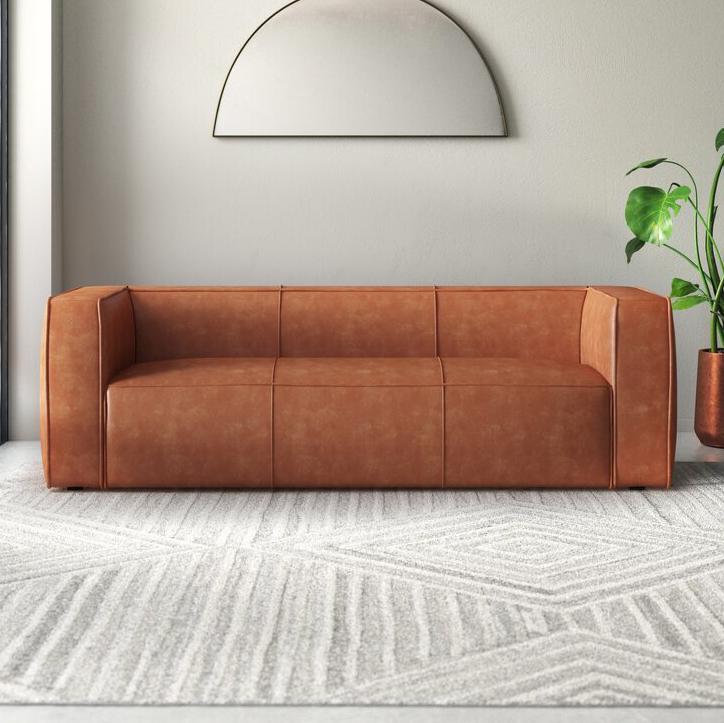 Kianna Leather Sofavia All Modern