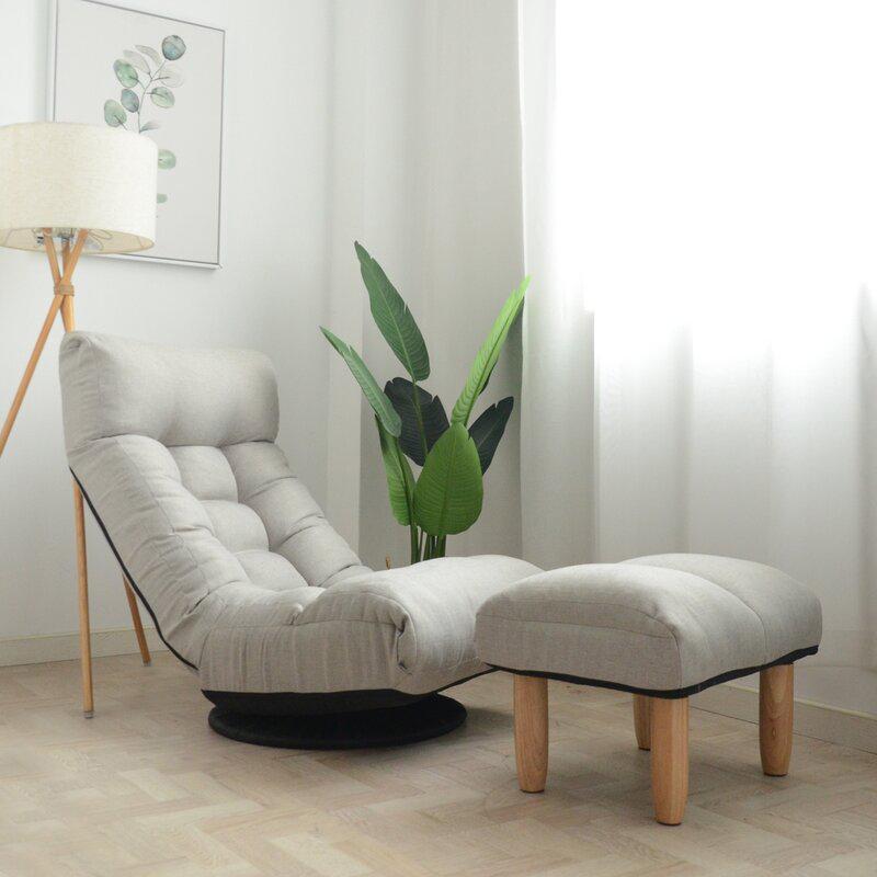 Trule 'Lofton' Wide Swivel Lounge Chair and Ottomanvia Wayfair