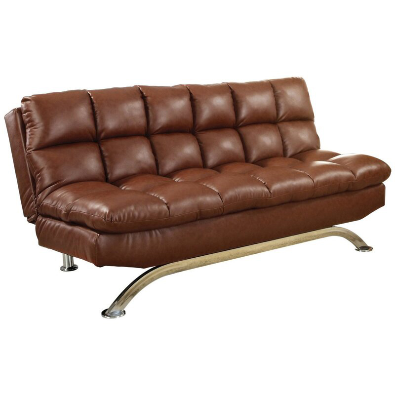 Latitude Run Pennock Faux Leather Armless Sleepervia Wayfair