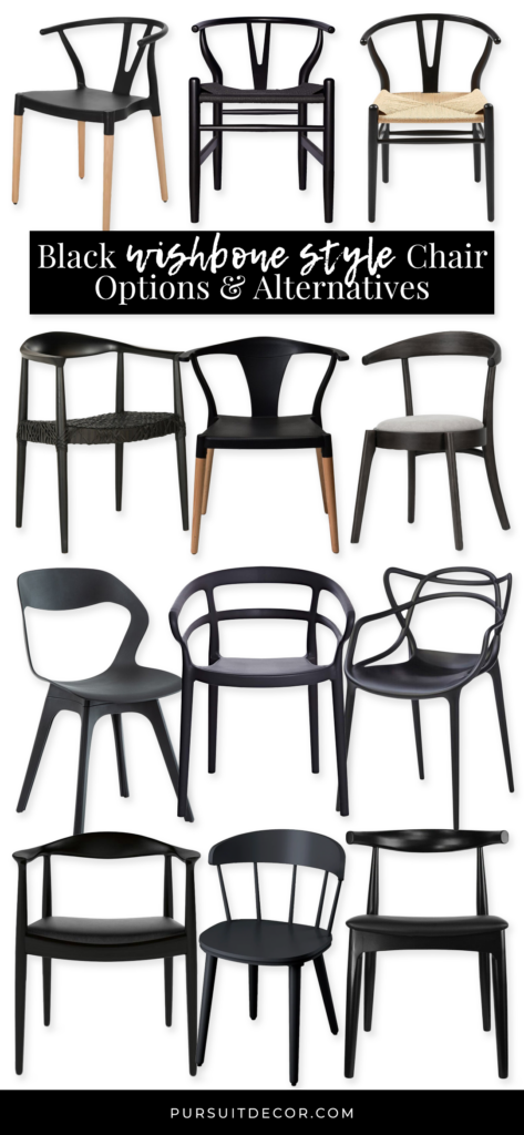 30 Black Wishbone-Inspired Dining Chair Options and Alternatives