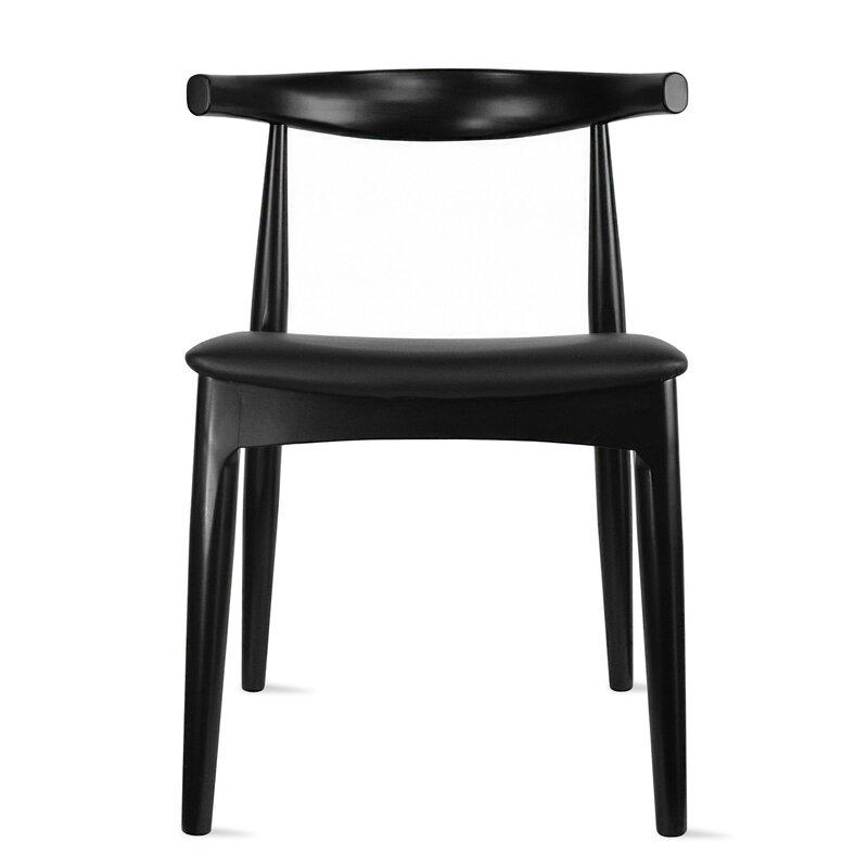 GEORGE OLIVER Side Chair in Black via Wayfair