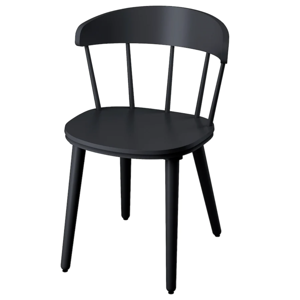 IKEA 'OMTÄNKSAM' Chair in Anthracite via Ikea