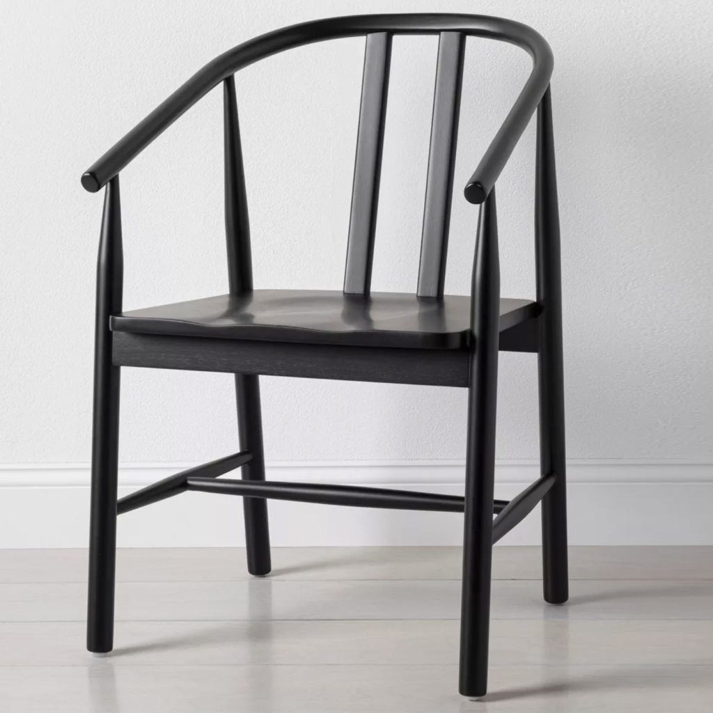 HEARTH & HAND w/ MAGNOLIA Sculpted Wood Dining Chair via Target