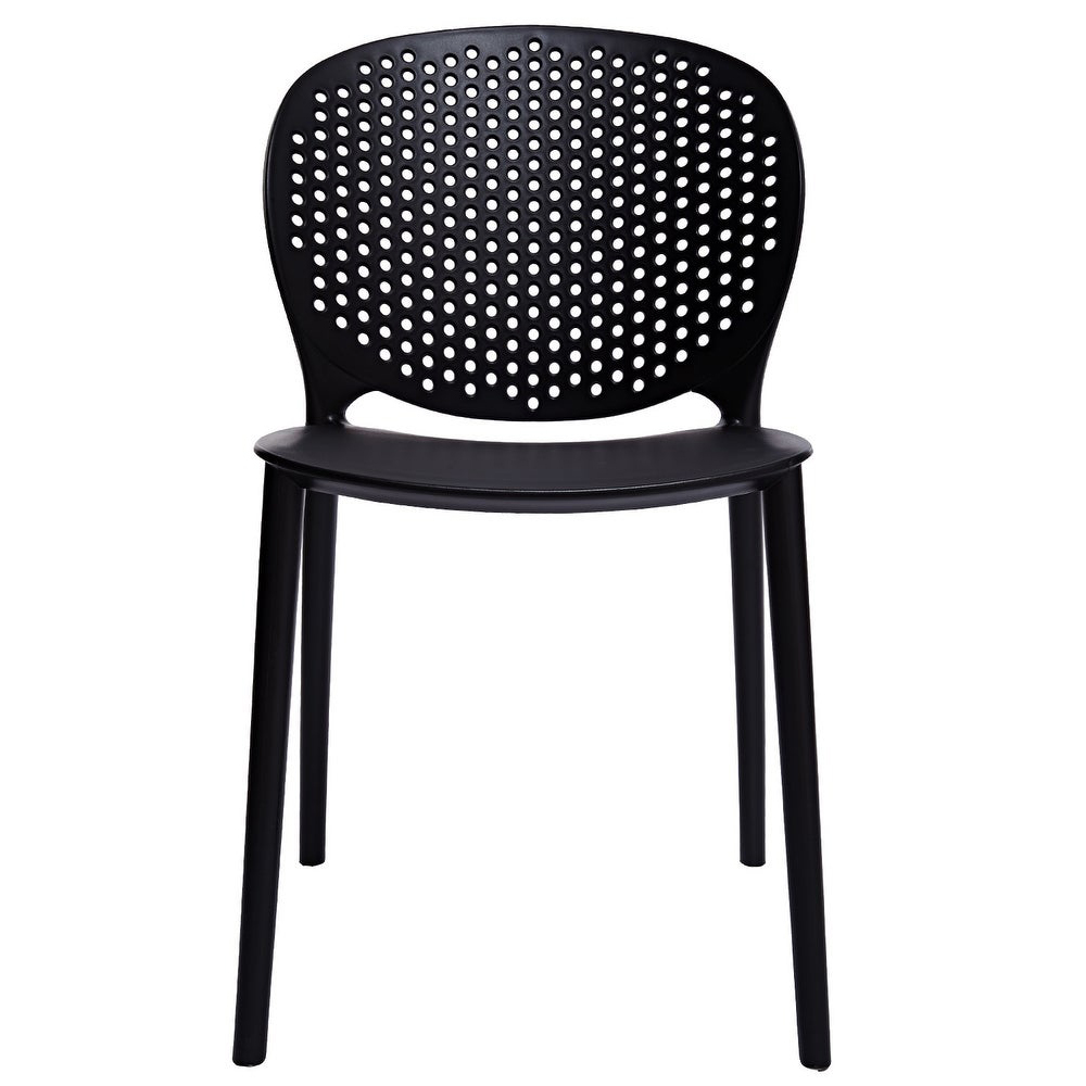 2XHome Modern Stackable Dining Chair via Overstock