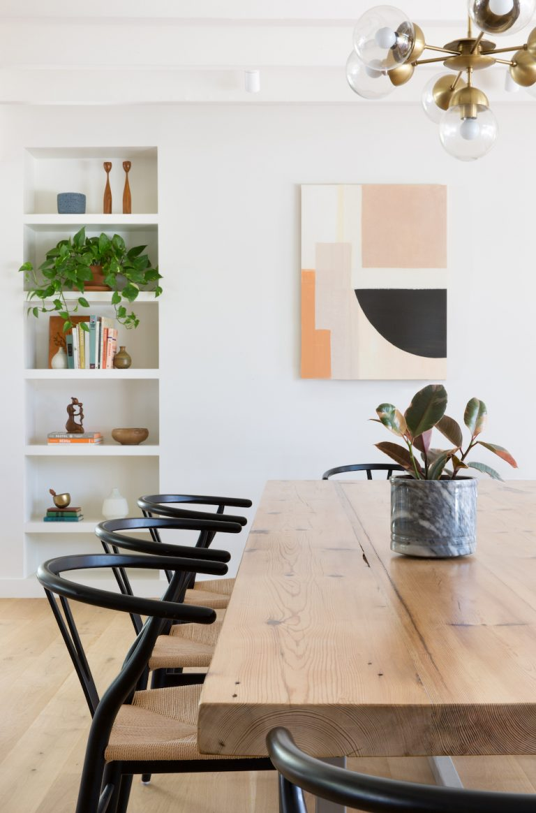 30 Black Wishbone-Inspired Dining Chair Options and Alternatives - Photo by Molly Culver via Camille Styles