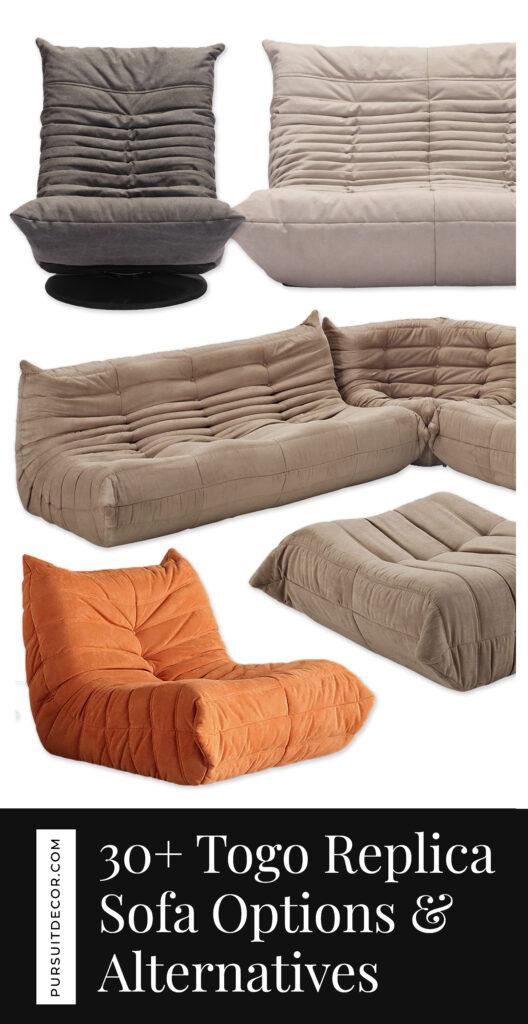 30+ Togo Replica Sofa Options and Togo Sofa Alternatives