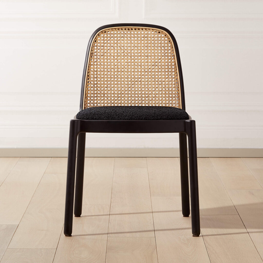 20+ Cesca Chair Replica Options And Stylish Cane Chair Alternatives - feat. 'Nadia' Black Cane Chair via CB2