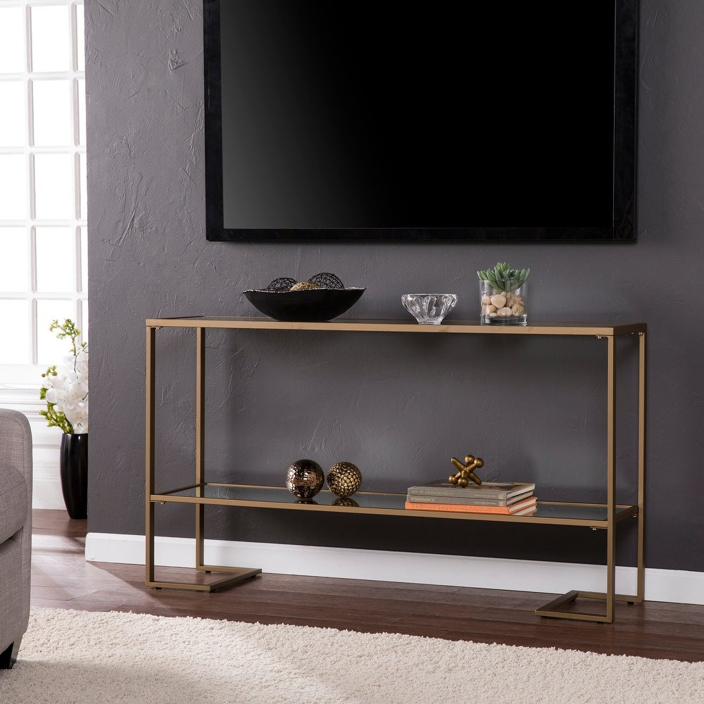 Silver Orchid Grant Glam Console Tablevia Overstock