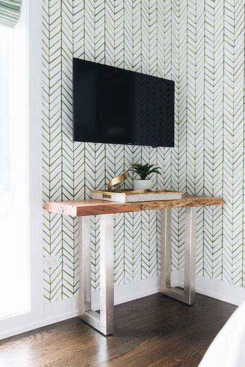 20+ Modern Console Table Ideas for Under Your Wall Mounted TV feat. Photo by Timber Trails Development