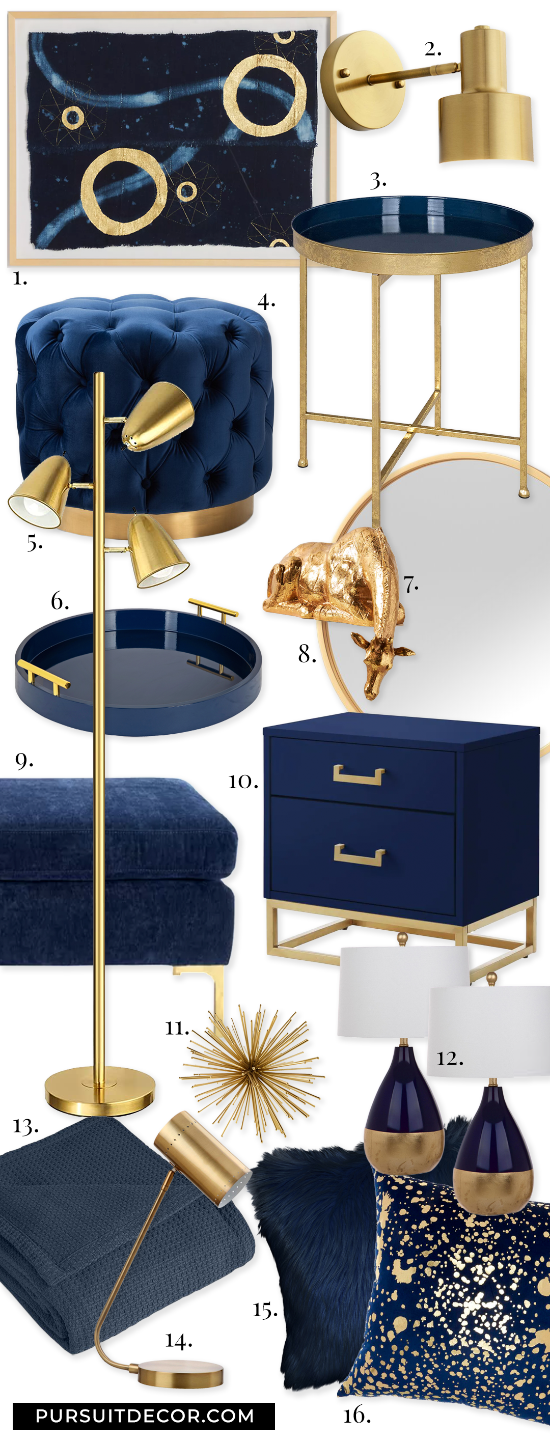 Navy Blue and Gold Bedroom Accessories, Navy Blue and Gold Bedroom Ideas