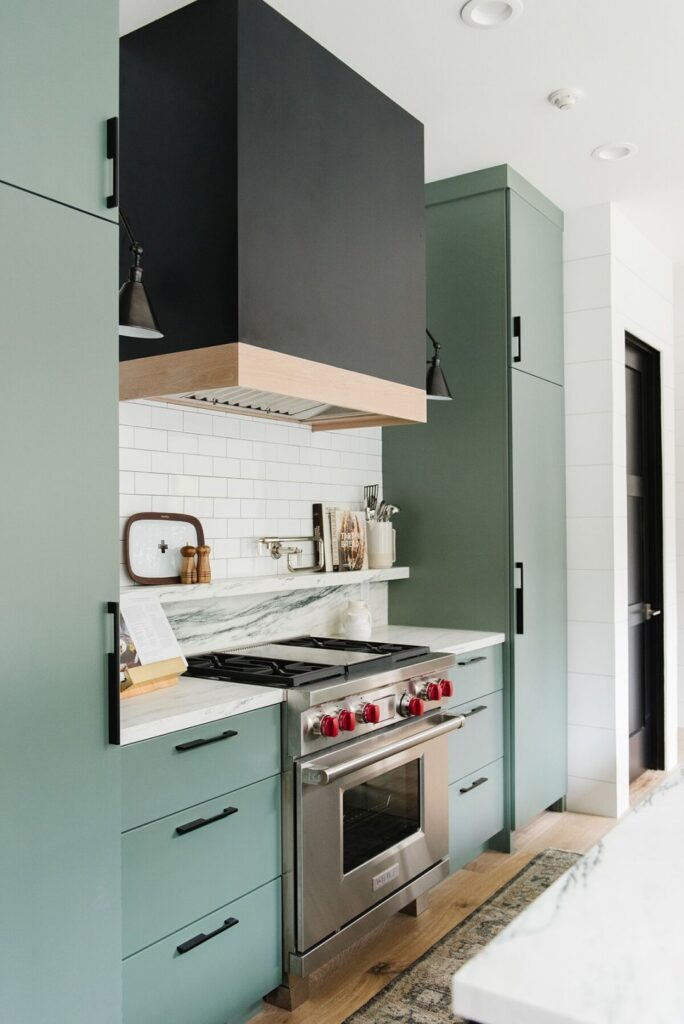 IMAGE: via Studio McGee feat. paint color 'Caldwell Green' by Benjamin Moore