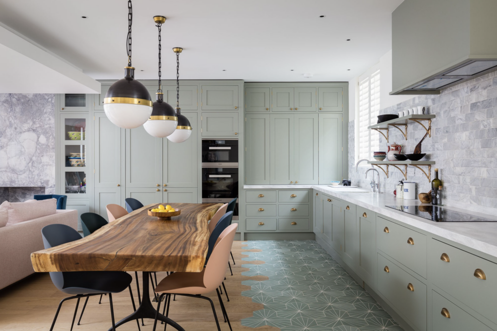 IMAGE: via dRAW Architecture feat. paint color 'Pigeon' by Farrow and Ball