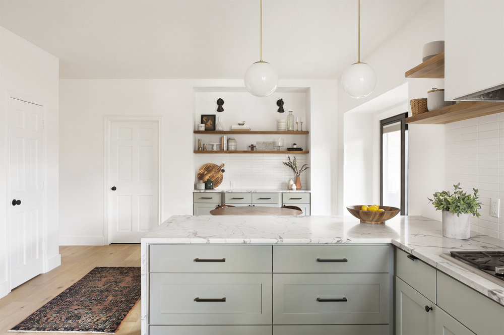 IMAGE: via Sarah Fultz Interiors feat. paint color 'Pigeon' by Farrow and Ball