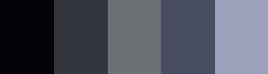 Black/Navy/Blue + Charcoal Gray color palette