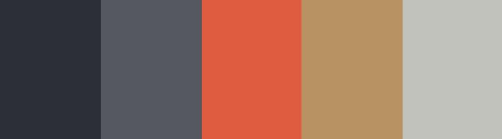 Orange/Tan + Charcoal Gray color palette