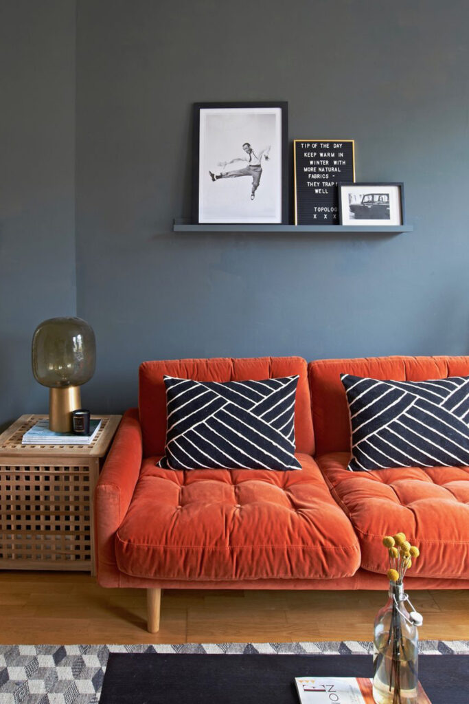 Orange sofa - Image via Habitat