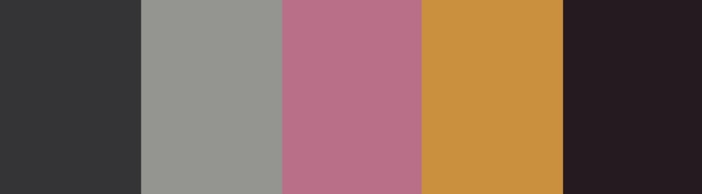 Pink and charcoal gray color palette