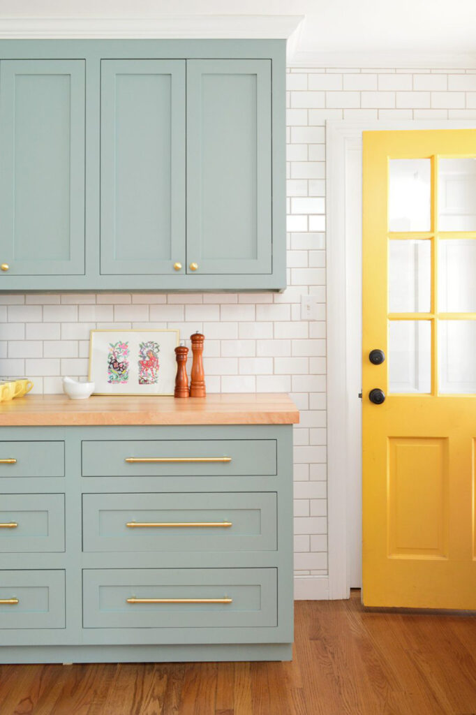 IMAGE: via Young House Love feat. paint color 'Halcyon Green' by Sherwin-Williams